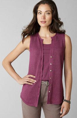 J. Jill Linen-bamboo vest