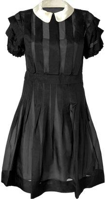 Marc by Marc Jacobs Black Silk Organza Ansastasia Dress