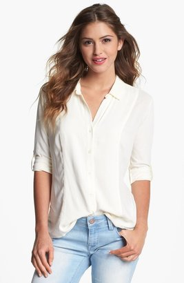 Vince Camuto Two by Mixed Media Shirt