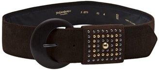 Yves Saint Laurent Vintage studded suede belt