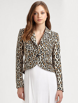 Alice + Olivia Frankie Elbow Patch Jacket