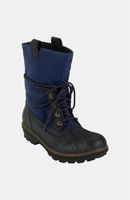 Cole Haan 'Air Scout' Rain Boot (Online Only) Black Waterproof/ Navy Canvas 10.5 D