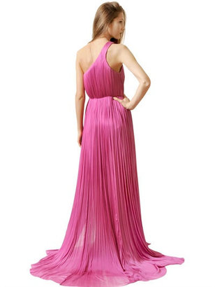 Maria Lucia Hohan Pleated Silk Tulle One Shoulder Dress