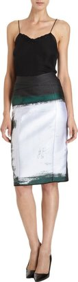 Narciso Rodriguez Jacquard Pencil Skirt Sale up to 60% off at Barneyswarehouse.com