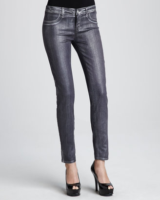 J Brand Jeans Coated Metallic Jeggings, Purple Bullet