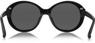 The Row Cat eye oversized acetate sunglasses
