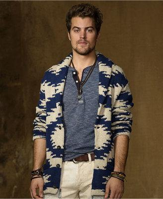 Denim & Supply Ralph Lauren Ralph Lauren Sweater, Print Shawl Collar Cardigan Sweater