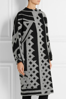 Burberry Wool and cashmere-blend blanket coat