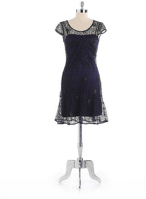 Kay Unger Skirted Lace Dress