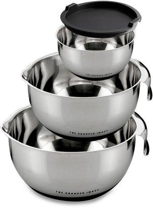 Sharper Image 4-Piece Stainless Steel Mixing Bowl Set