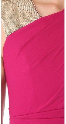 Matthew Williamson Embroidered Asymmetric Bandage Dress