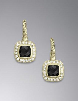 David Yurman Albion Drop Earrings with Black Onyx