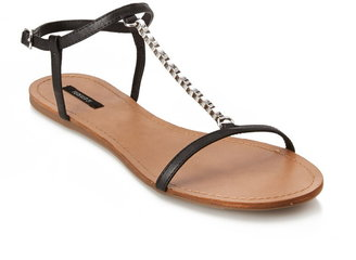 Forever 21 Chained T-Strap Sandals