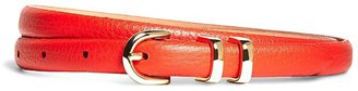 Pebble Calfskin Feathered Skinny Belt $48 thestylecure.com