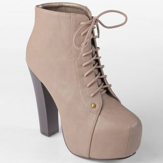 Journee Collection sophie platform high heel booties - women