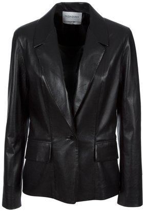 Yves Saint Laurent leather blazer