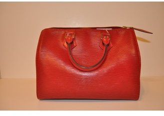 Louis Vuitton very good (VG Red Epi Speedy 25 Bag