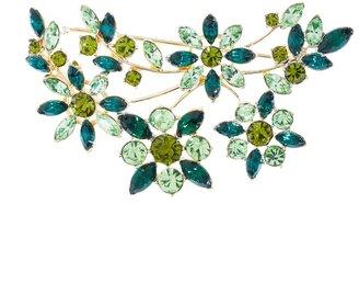 Brooks Brothers Crystal Floral Brooch
