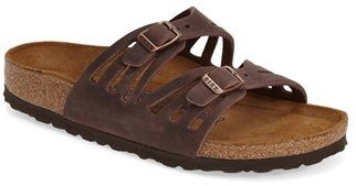 Women's Birkenstock 'Granada' Soft Footbed Oiled Leather Sandal $134.95 thestylecure.com