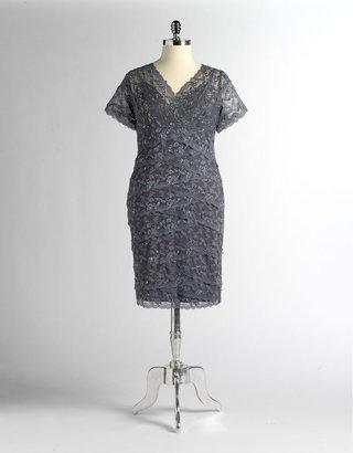 Marina Plus-Size Beaded Lace Dress
