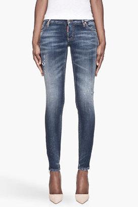 DSquared DSQUARED2 Dark blue Super Slim painter Jeans