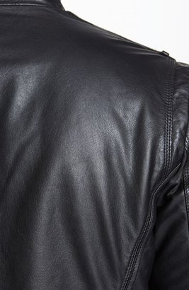 HUGO BOSS 'Aicon 1' Leather Jacket