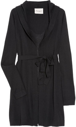 Crumpet Hooded cashmere cardigan