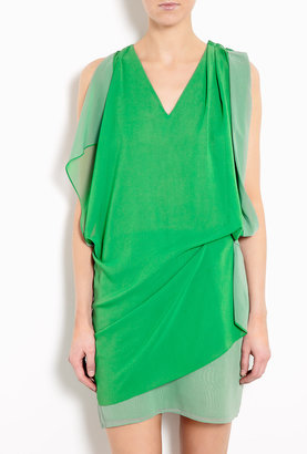 Acne Mallory Contrast Drape Front Dress