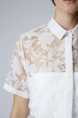 Topshop Flower burnout shirt