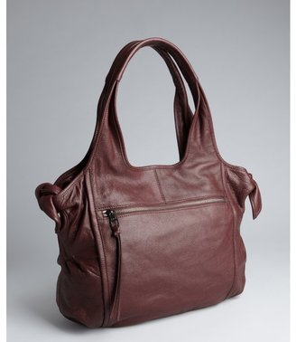 Kooba wineberry leather bow detail 'Carmine' shoulder bag