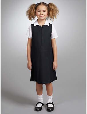 John Lewis & Partners Zip Front School Tunic, Navy