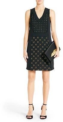Diane von Furstenberg Twiggy Embellished Dress In Black