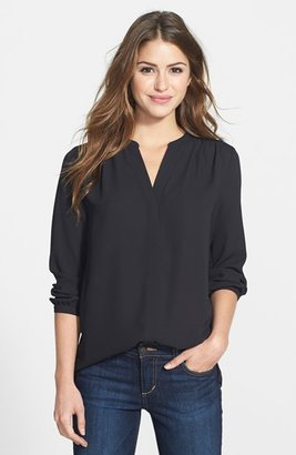 Petite Women's Nydj Pleat Back Blouse $88 thestylecure.com