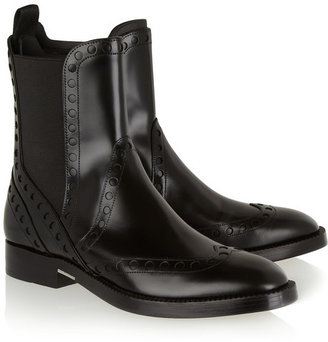Alexander Wang Nicole perforated leather Chelsea boots