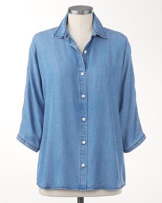 Coldwater Creek Dolman sleeve Tencel® denim shirt