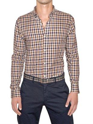 Aquascutum London Checked Cotton Button Down Shirt