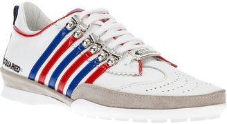 DSquared Dsquared2 striped lace-up trainer