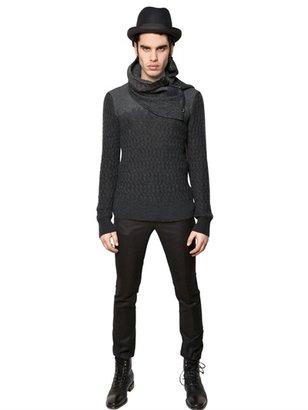 John Varvatos Mohair Blend Knit Sweater