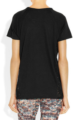 Vanessa Bruno Athé Lace and jersey T-shirt