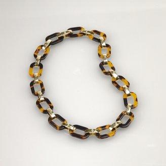 Ralph Lauren Gold & Tortoise Link Necklace