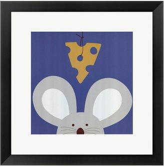 """Lau """"Peek-A-Boo V Mouse"""" Framed Art Print by Jin"""