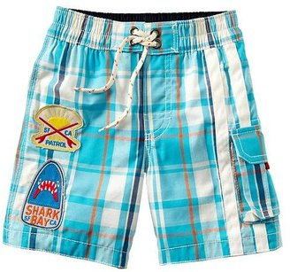 Gap Plaid patch swim trunks