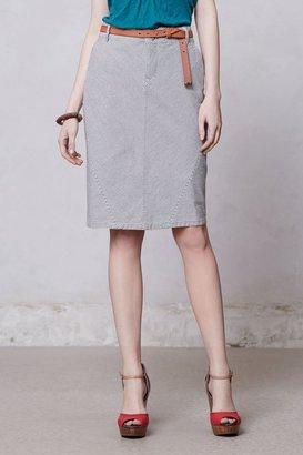 Anthropologie Pilcro Railroad Stripe Skirt