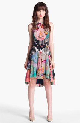 Nicole Miller Print Fit & Flare Dress