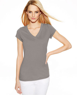INC International Concepts Petite Short-Sleeve V-Neck Tee