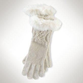 Ralph Lauren Metallic Cable Glove