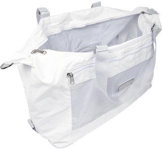 adidas by Stella McCartney Mesh-paneled woven gym bag
