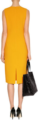 Michael Kors Evening Sun Stretch Wool Sheath