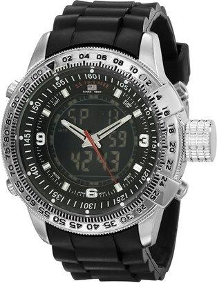 U.S. Polo Assn. Sport Men's US9047 Analog-Digital Black Dial Black Rubber Strap Watch