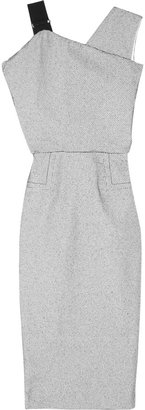 Victoria Beckham Asymmetric stitch-spotted crepe dress